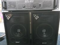 SKYTEC SL6 SPEAKERS & SPL400 AMP