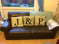 Leather Sofa set/suite