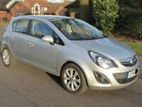 2014 Vauxhall corsa 1.2 Excite 5 Door, silver ,full service history 49000 miles,Air con
