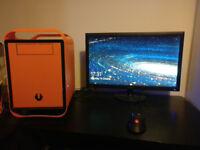 Orange Micro-ATX Gaming PC - Runs any current game