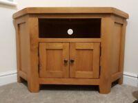 Heritage Rustic Oak Corner TV Unit