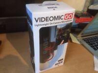 RODE VideoMic GO On Camera Microphone - Black/Red (RØDE)