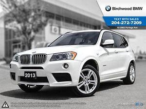 2014 BMW X3 Xdrive35i Navigation, M-Sport & Premium Packages!