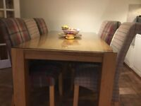 Solid oak kitchen table for sale.