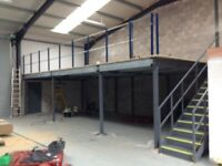 MEZZANINE FLOOR 12M X 8M WITH STAIRS DISMANTLED READY TO GO. REDUCED!!( STORAGE , PALLET RACKING )