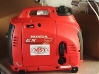 HONDA EX7 GENERATOR with owner's manual AS NEW CONDITION