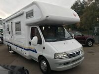 motorhomes low mileage 2003 burstner a 747-2 active tag axle 6 /7 berth