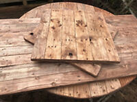 Reclaimed Wood Table Tops x 10. Cafes, Bars, Restaurants. FREE DELIVERY