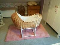 Moses basket and matress