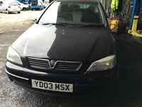 2003 VAUXHALL ASTRA CLUB 8V (MANUAL PETROL)- FOR PARTS ONLY