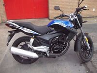 PERFECT CHRISTMAS PRESENT IS THIS 65 PLATE LEXMOTO ZSA 125cc LOW MILEAGE (1350 MILES).