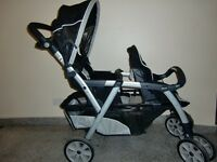 Chicco Double Child Stroller in very good condition. Twins outgrown it. Quick sale, York central