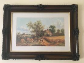 Vintage frames with glass and prints for sale