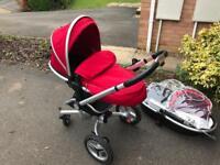 Silver cross surf travel system Pram pushchair car seat