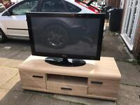 """Samsung 42"""" TV And Cabinet"""