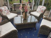 John Lewis rattan furniture set for conservatory/outside