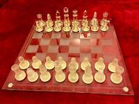 Large Glass Chess Set
