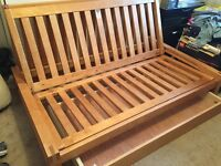 Futon Company Double Bed, Frame, Mattress and under drawer
