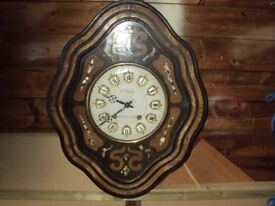 VINTAGE 1890'S LARGE FRENCH VINEYARD STRIKING WALL CLOCK £70