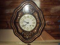 VINTAGE 1890'S LARGE FRENCH VINEYARD STRIKING WALL CLOCK £70