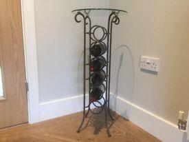 Iron & Glass Top Wine Rack