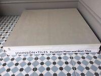 Johnsons Light Grey Large Format Porcelain Floor or Wall tiles - 600 x 600 mm