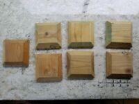 """7 New Fence Post Caps 4"""" x 4"""" (100mm x 100mm) to suit 3"""" Posts."""