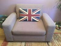 Next Snuggle 2 Seater Sofa Bed - Smooth metal action foldaway RRP £650
