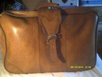 A VERY HANDSOME BEIGE SUITCASE , TOUGH in V.G.C. ALL FITTINGS O.K. GOOD QUALITY ++++++++++++