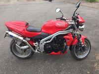 2004 Triumph Speed Triple 955i Red