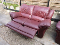Two Leather Recliner 2 seater sofas