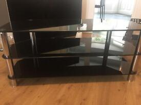 TV Black Glass Corner Unit