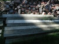 reinforced concrete fence posts - unused