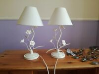 Two white table/ bedside lamps
