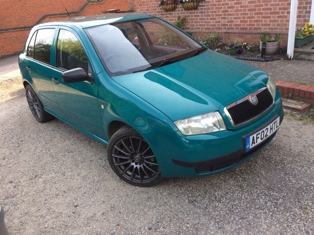 2002 skoda fabia 1 9 sdi in green long mot drive away today cheep diesel in rugby. Black Bedroom Furniture Sets. Home Design Ideas