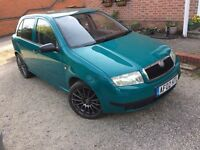 2002 Skoda Fabia 1.9 Sdi in Green, Long Mot Drive Away Today,Cheep diesel!