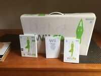 Wii balance board, instructions and DVD