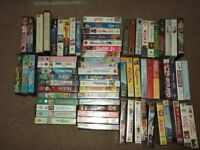 71 assorted vhs films 17 of them are disney titles, all in good clean condition