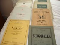 2 Boxes of Assorted Sheet music and music books - many quite old