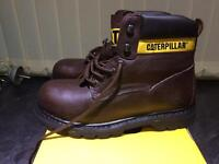 Caterpillar Leather Safety Boots Size 8
