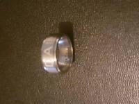 ENGRAVED titanium steel dad ring