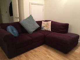 Quality Corner Sofa - Hardly Used £100 - First to see will buy. 210 x 160 cm