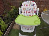 Mamas and Papas Pesto Deluxe Folding Highchair