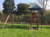 Garden climbing swing frame - requires disassembly