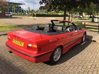 BMW 323i Convertible E36 1998 Auto Red