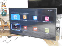 "EX DISPLAY SHARP 55"" SMART LED TV WITH FREEVIEW HD, FREESAT HD, WI-FI, YOUTUBE WITH WARRANTY."