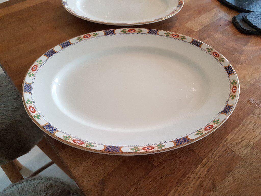 2 vintage Allerton bone china dishes