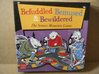 (BEFUDDLED, BEMUSED & BEWILDERED). The Senior Moments board game. Unused and Complete.