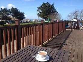 New Luxury Holiday Home Caravan at Ruda, Croyde, Devon. Sea Views and Decking included