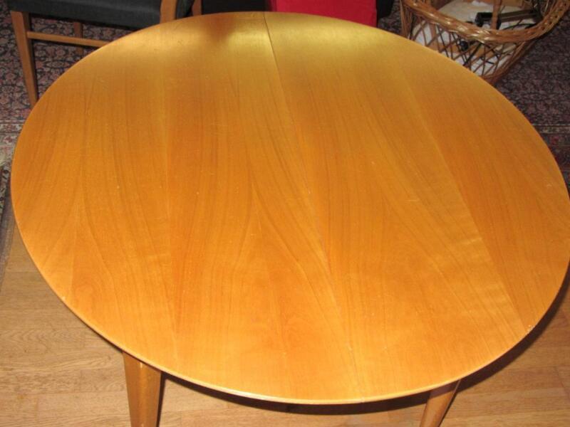 Runder Tische Esstisch höhenverstell u ausziehbar 50er
